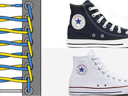 Thắt dây hình thang cho giày cổ cao